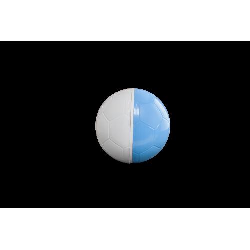 Comedouro Brinquedo  Cães e Gatos  Crazy Ball Branco Azul