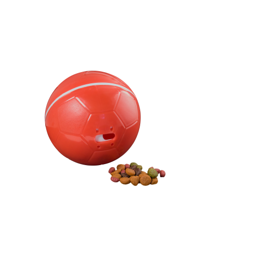 Comedouro Brinquedo  Cães e Gatos  Crazy Ball Vermelho