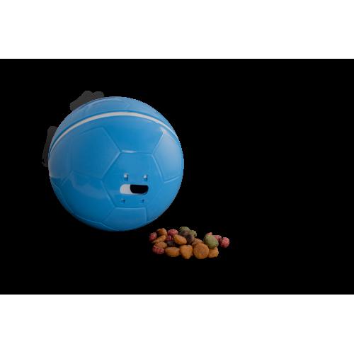 Comedouro Brinquedo Cães e Gatos Crazy Ball Azul