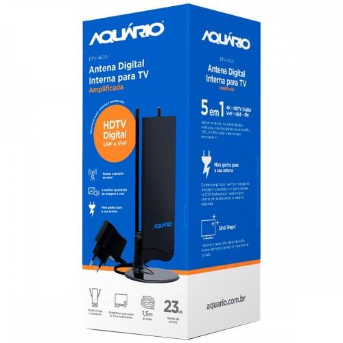Antena Digital  Interna Amplificada para TV Aquário DTV-4600