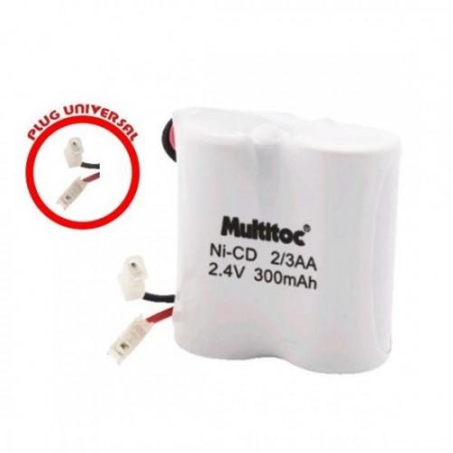 Bateria  para Telefone Sem  Fio  TH 2/3 AA 2.4V/300mah