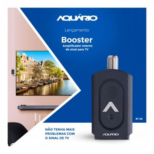 Booster para Antena Amplificador Interno de TV BT 26 Aquário