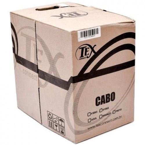 Cabo Cftv/ Rede  Cx C/ 305 Metros Preto Tex Connect