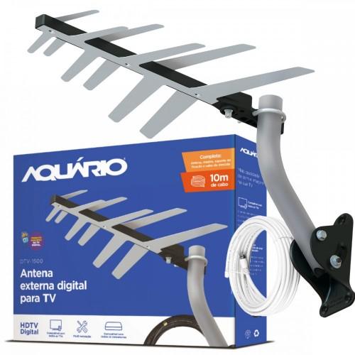 Antena Externa Digital pronta p/ Instalar Aquário Dtv-1500