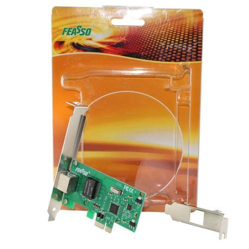 Placa De Rede Pci-express 10/100/1000 Perfil Baixo JPR-02 Feasso
