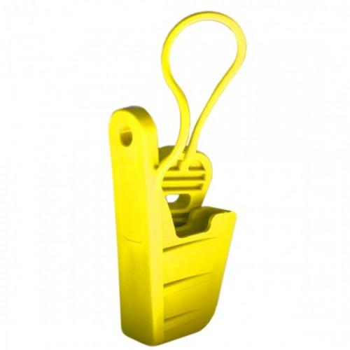 Esticador Mini Cunha Cabo Drop Alça Plást. Amarelo C/100un