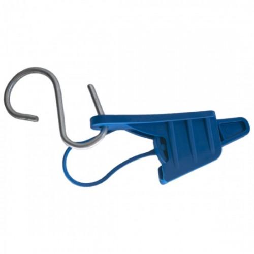 Esticador Mini Cunha Cabo Drop Alça Plástica Azul C/ 50un