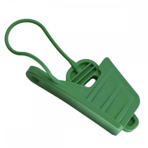 Esticador Mini Cunha Cabo Drop Alça Plástica Verde C/ 100un