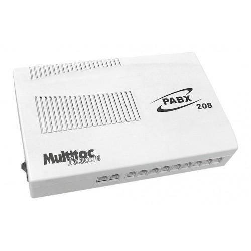 Central Pabx Multitoc 208 Com 2 Linhas E 8 Ramais