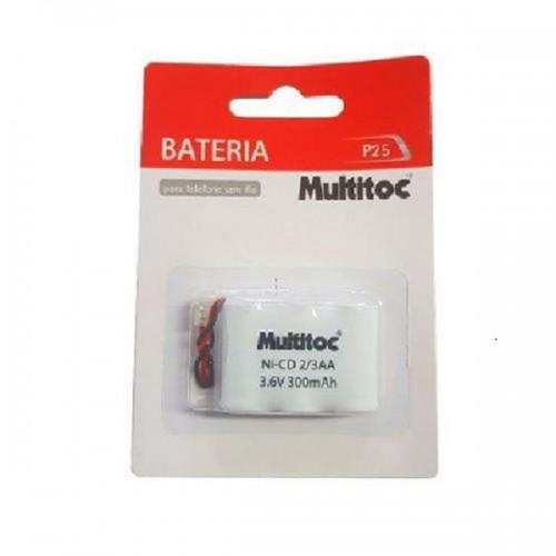 Bateria p/ Telefone sem fio 3.6v 300mah 2/3aa P25 Multitoc