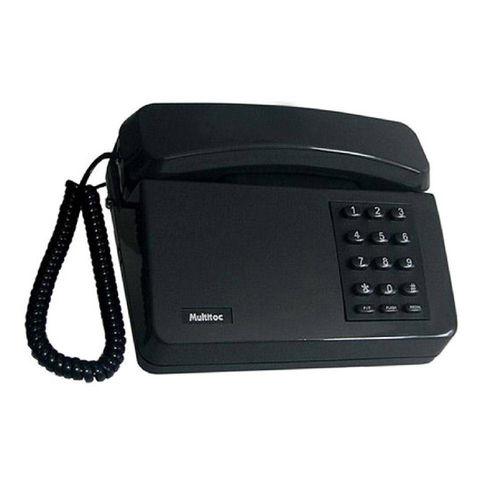 Telefone Padrão 6 Pcs  Multitoc Preto