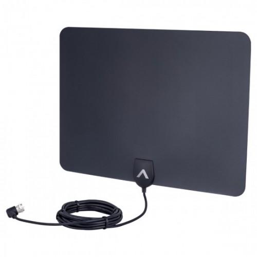 Antena Slim Digital Ultra fina 5 em Tv Uhf Vhf Hd Fm 4K Aquário