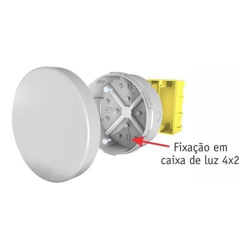 Caixa Sobrepor Cftv Redonda Hermética Branca 12x5cm