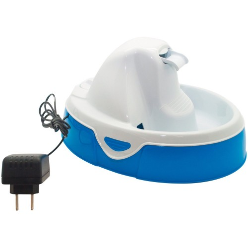Fonte Bebedouro Aqua Flow Amicus para Cães e Gatos Branco/Azul