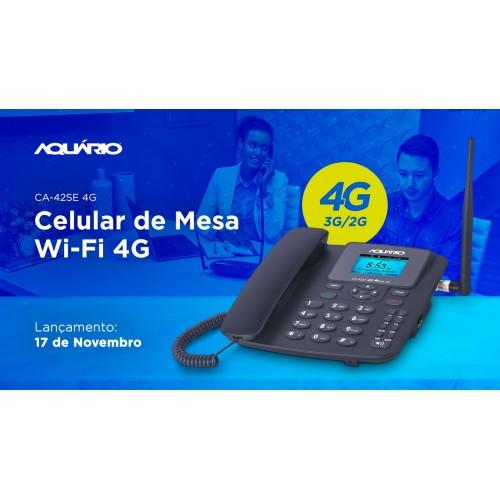Telefone Celular Rural  4g Internet Wifi Aquário- Ca 42se- 4g