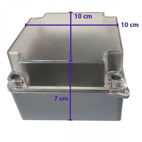 Caixa De Passagem Sobrepor Elétrica 10x10x7 Cm Opaca Cinza