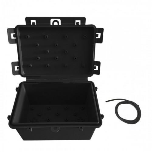 Kit C/10 Caixa Hermética Micro 11,5x7,5x7cm Preto
