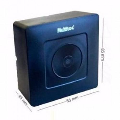 Kit C/ 10 Mini Caixa Sobrepor Cftv Preto Multitoc