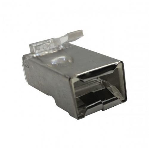 Modular Plug 8x8 Rj45 Blindado Com Banho Ouro - 100 Unidades