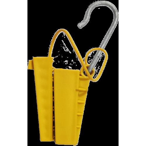 Esticador Cunha Cabo Drop Alça Plastica Amarelo 100 Peças