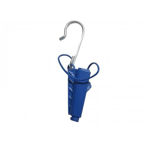Kit Esticador Mini Cunha Cabo Drop Plástica Azul C/ 50pçs