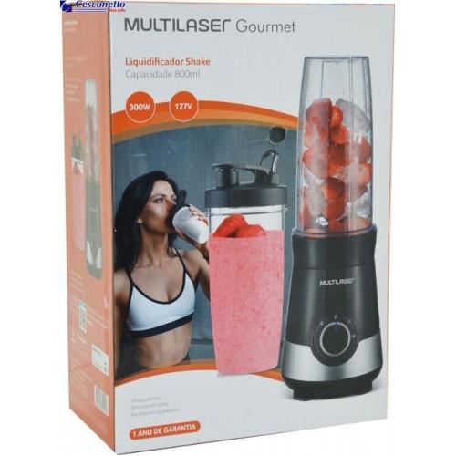 Liquidificador Shake 2copos 800ml 127v 300w Multilaser Be013