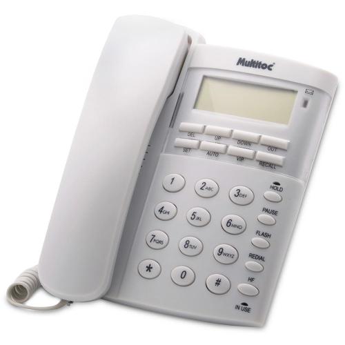 Telefone C/ Fio Office Id E Viva Voz Multitoc COR: BRANCO