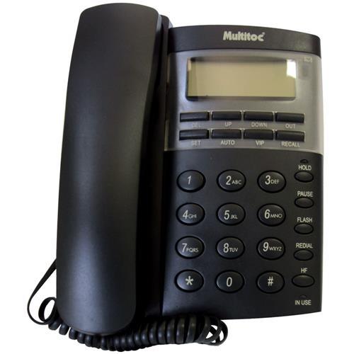 Telefone C/ Fio Office Id E Viva Voz Grafite Multitoc