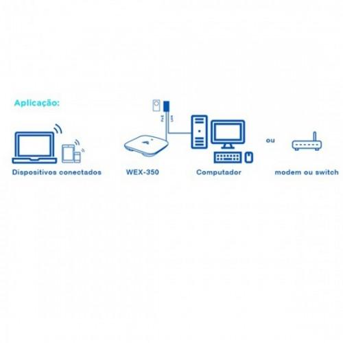 Roteador de Teto Access Point 2,4GHZ 650mW Aquário WEX-350