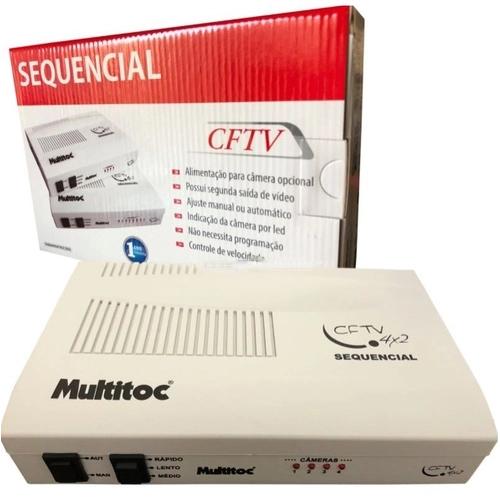 Sequencial De Câmeras Para Cftv Multitoc 4x2